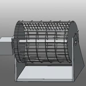 griglia barbecue rotativa