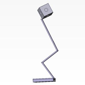 lampada piedistallo cubo
