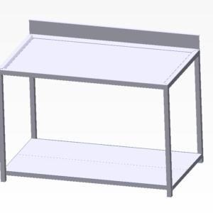 tavolo con invaso e alzatina