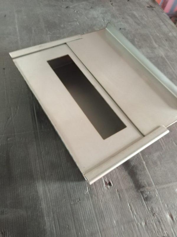 vaschetta stufa bioetanolo inox